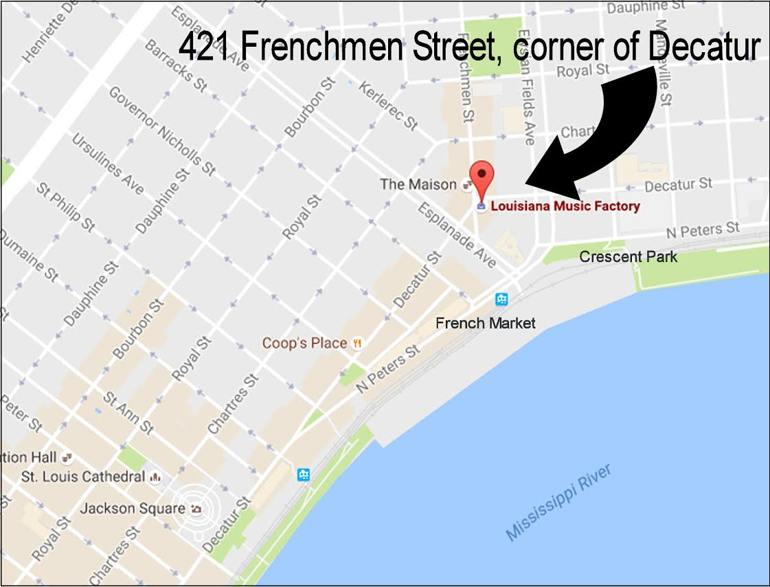 frenchmen street new orleans map Louisiana Music Factory frenchmen street new orleans map